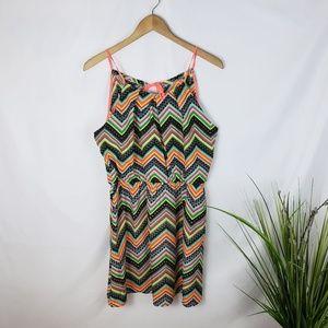 My Michelle Multicolored Chevron Dress Size Large